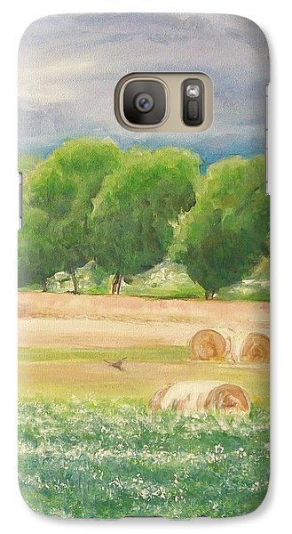 Galaxy Case featuring the painting Freedom by Jane  See
