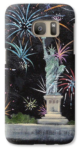 Galaxy Case featuring the painting Freedom by Judith Rhue