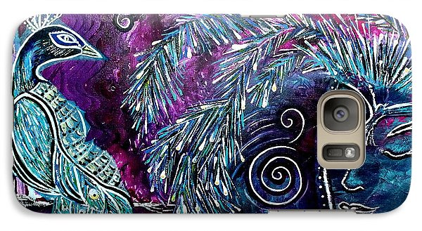 Galaxy Case featuring the painting Freedom by Julie  Hoyle