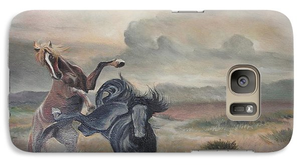 Galaxy Case featuring the painting Freedom by Sorin Apostolescu