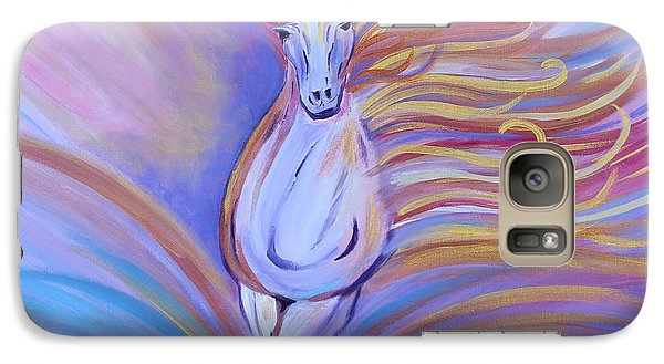 Galaxy Case featuring the painting Freedom by Stacey Zimmerman