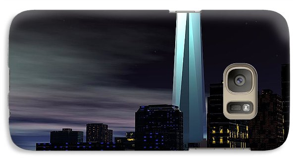 Galaxy Case featuring the digital art Freedom Tower by John Pangia