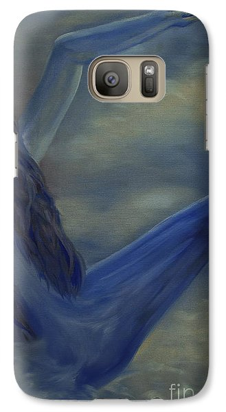 Galaxy Case featuring the painting Freefall by Stuart Engel