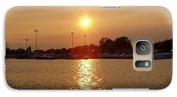 Galaxy Case featuring the photograph Freeport Summer Sunset by John Telfer
