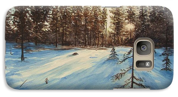 Galaxy Case featuring the painting Freezing Forest by Martin Howard