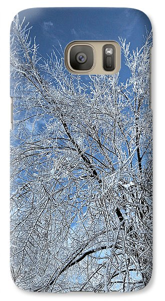 Galaxy Case featuring the photograph Freezing Rain ... by Juergen Weiss