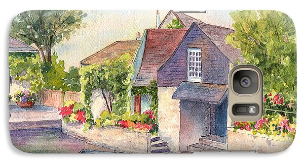 Galaxy Case featuring the painting French Boathouse  Azay Le Rideau by Vikki Bouffard