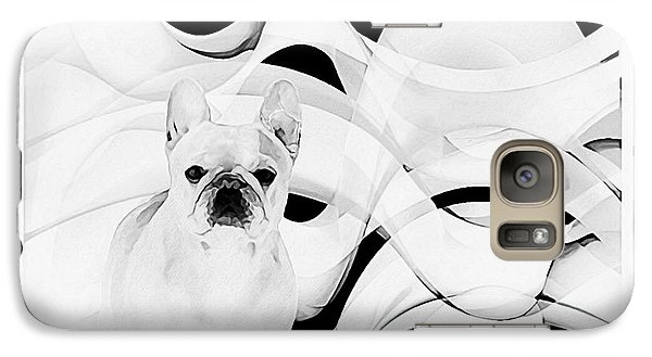 Galaxy Case featuring the painting French Bulldog by Barbara Chichester