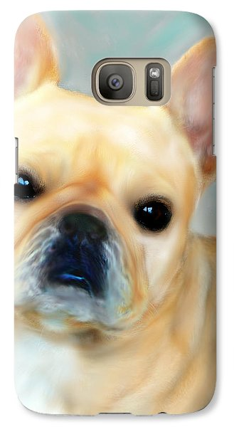 Galaxy Case featuring the painting French Bulldog Mystique D'or by Barbara Chichester