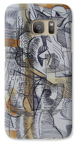 Galaxy Case featuring the digital art French Curves 2 by Clyde Semler