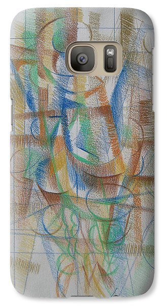 Galaxy Case featuring the digital art French Curves 3 by Clyde Semler