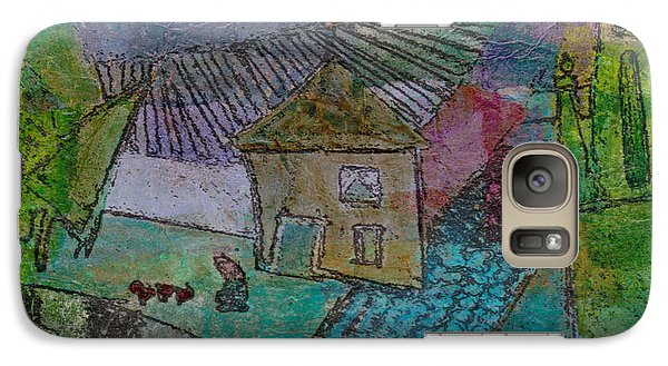 Galaxy Case featuring the mixed media French Farm by Catherine Redmayne