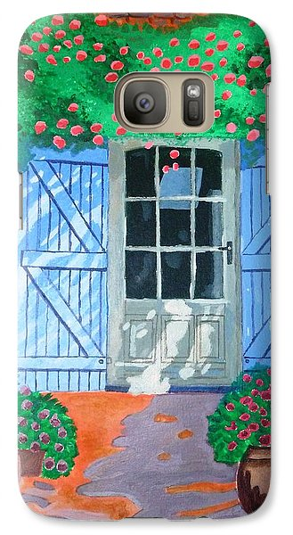 Galaxy Case featuring the painting French Farm Yard by Magdalena Frohnsdorff