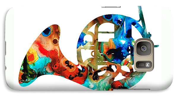 French Horn - Colorful Music By Sharon Cummings Galaxy Case by Sharon Cummings