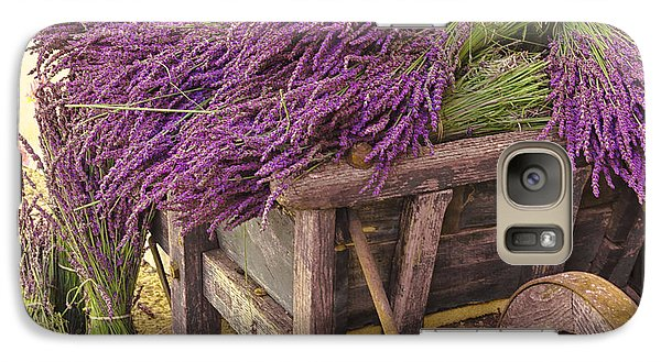 Galaxy Case featuring the photograph French Lavender Cart by Phyllis Peterson