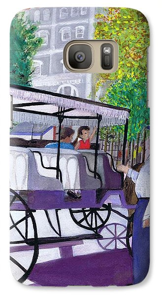 Galaxy Case featuring the painting French Quarter Buggy Tour by June Holwell