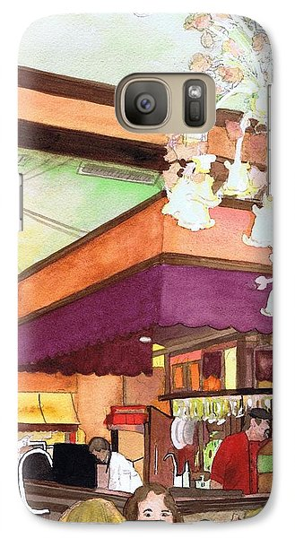 Galaxy Case featuring the painting French Quarter Dining-coffee Pot Restaurant by June Holwell