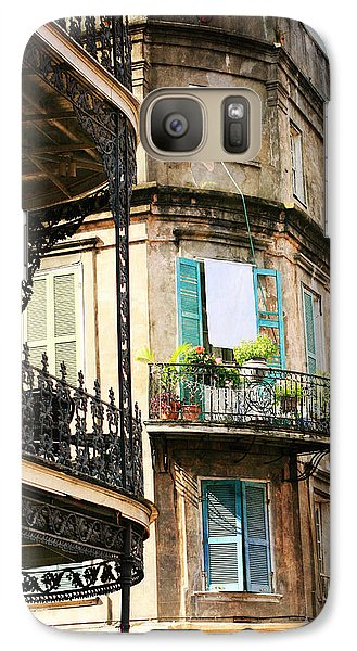 Galaxy Case featuring the photograph French Quarter Morning by Heather Green