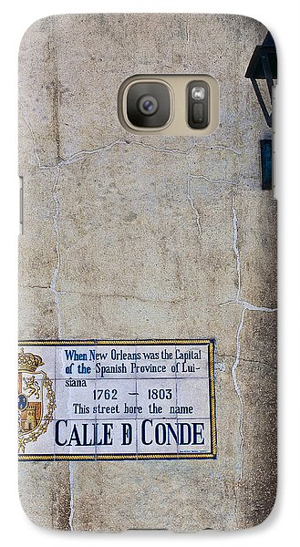 Galaxy Case featuring the photograph French Quarter Street Sign by Ray Devlin