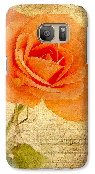 Galaxy Case featuring the photograph French Rose by Kim Andelkovic