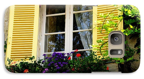 Galaxy Case featuring the photograph French Window Dressing by Jacqueline M Lewis