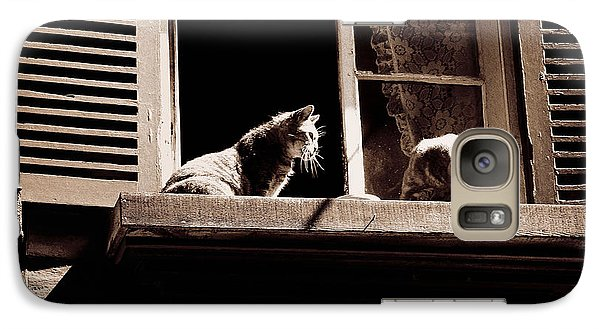 French Windowsill Cats In The Sun Galaxy S7 Case