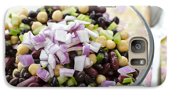 Galaxy Case featuring the photograph Fresh Bean Salad by Maria Janicki