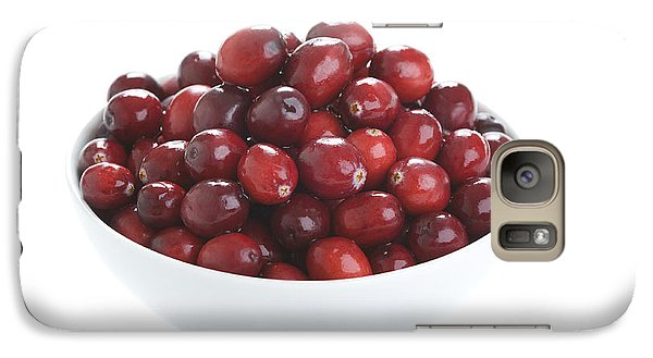 Galaxy Case featuring the photograph Fresh Cranberries In A White Bowl by Lee Avison