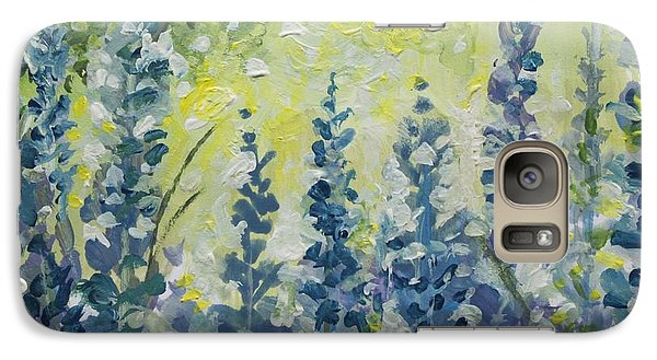 Galaxy Case featuring the painting Fresh Lavender by Elizabeth Robinette Tyndall