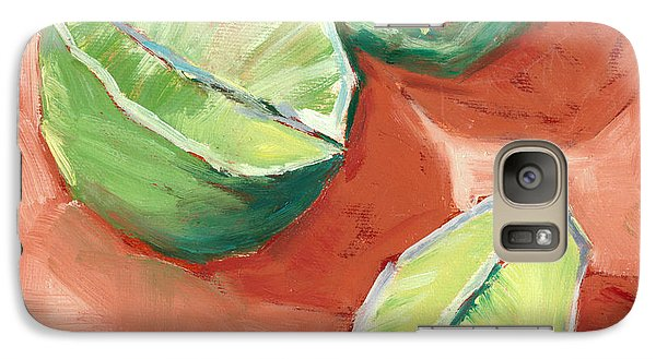 Galaxy Case featuring the painting Fresh Limes by Pam Talley