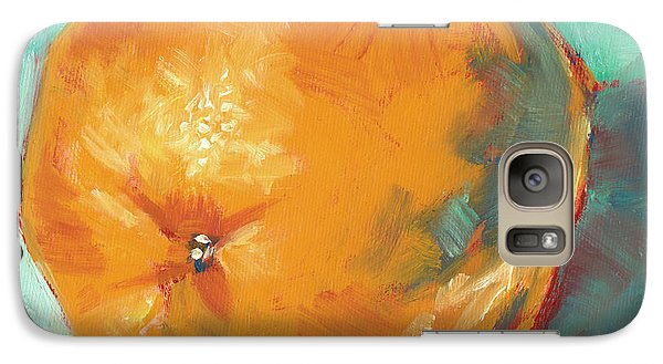 Galaxy Case featuring the painting Fresh Orange by Pam Talley