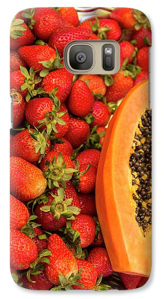Mango Galaxy S7 Case - Fresh Tropical Fruit For Sale by Jerry Ginsberg