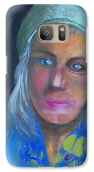 Galaxy Case featuring the painting Freundin1 by Art Ina Pavelescu