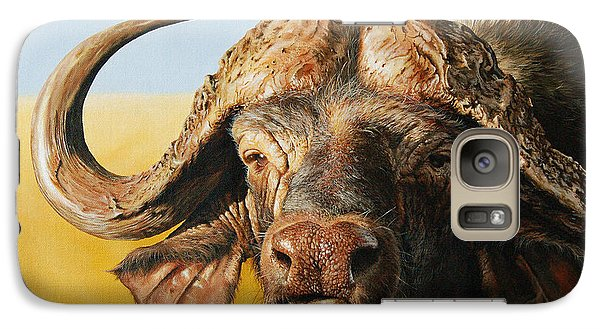 African Buffalo Galaxy Case by Mario Pichler