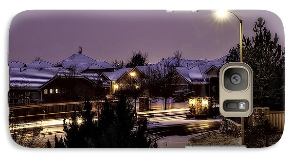 Galaxy Case featuring the photograph Friday Night Lights by Nancy Marie Ricketts