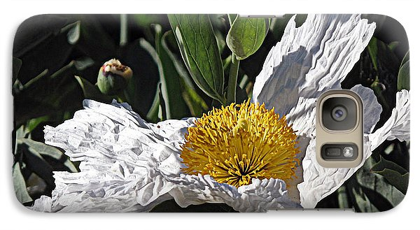 Galaxy Case featuring the photograph Fried Egg Poppy by Suzy Piatt