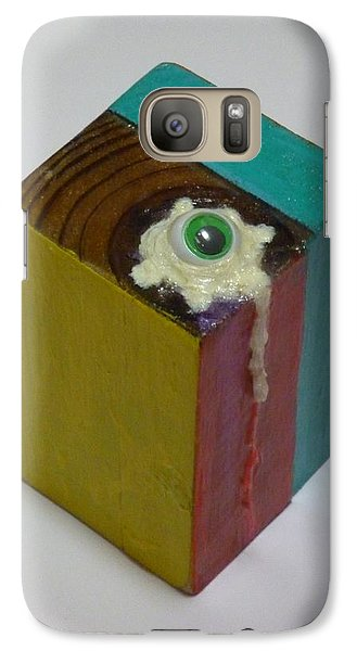 Galaxy Case featuring the sculpture Fried Eye Ball by Douglas Fromm
