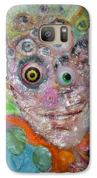 Galaxy Case featuring the mixed media Fried Face by Douglas Fromm