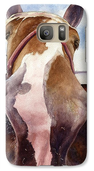Galaxy Case featuring the painting Friendly Horse by Anne Gifford