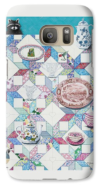 Galaxy Case featuring the painting Friends Come To Tea by Jennifer Lake