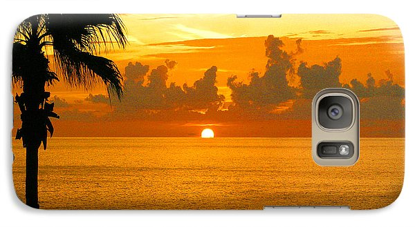 Galaxy Case featuring the photograph Friends Fishing At Sunset by Mariarosa Rockefeller