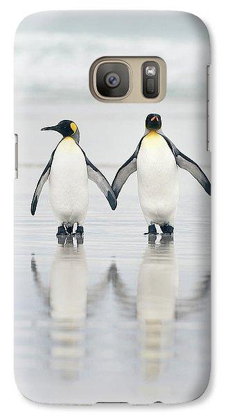Penguin Galaxy S7 Case - Friends by Joan Gil Raga