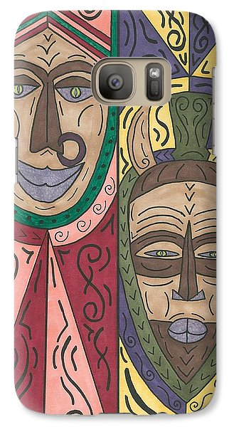 Galaxy Case featuring the painting Friends by Susie Weber