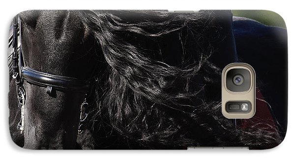 Galaxy Case featuring the photograph Friesian Beauty D8197 by Wes and Dotty Weber