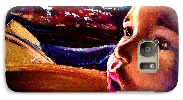 Galaxy Case featuring the painting Fright Of Dumbo by D Renee Wilson