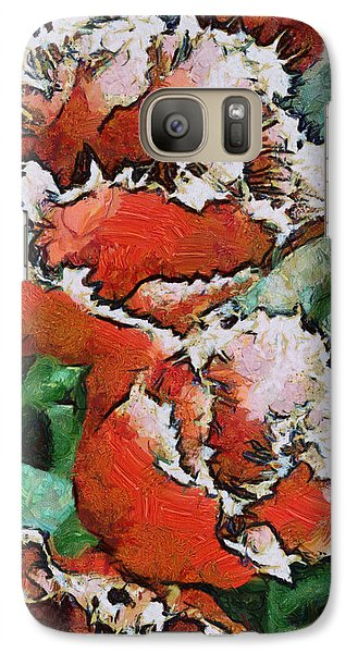 Galaxy Case featuring the photograph Fringed Tulips by Gerry Bates