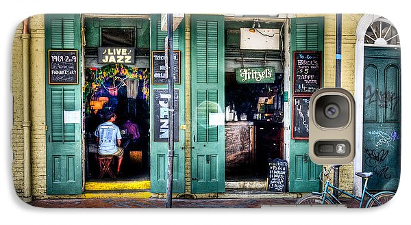 Galaxy Case featuring the photograph Fritzels Bar On Bourbon Street by Ray Devlin