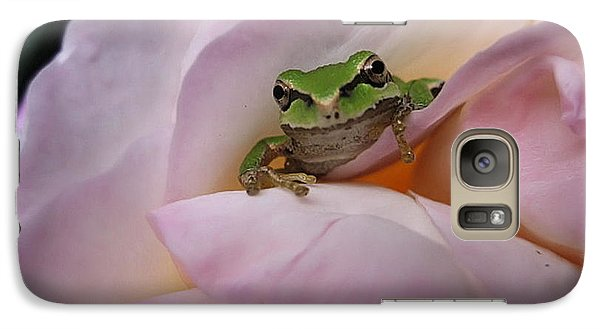 Galaxy Case featuring the photograph Frog And Rose Photo 1 by Cheryl Hoyle
