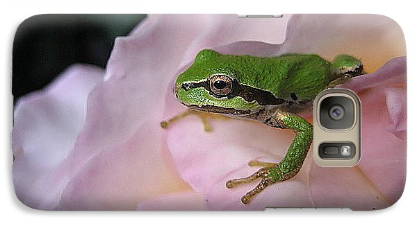 Galaxy Case featuring the photograph Frog And Rose Photo 3 by Cheryl Hoyle