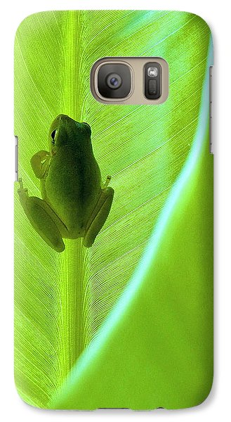 Galaxy Case featuring the photograph Frog In Blankie by Faith Williams